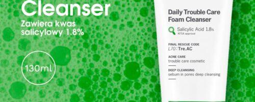 Idealne oczyszczenie dla tłustej, problematycznej cery – Daily Trouble Care Foam Cleanser.