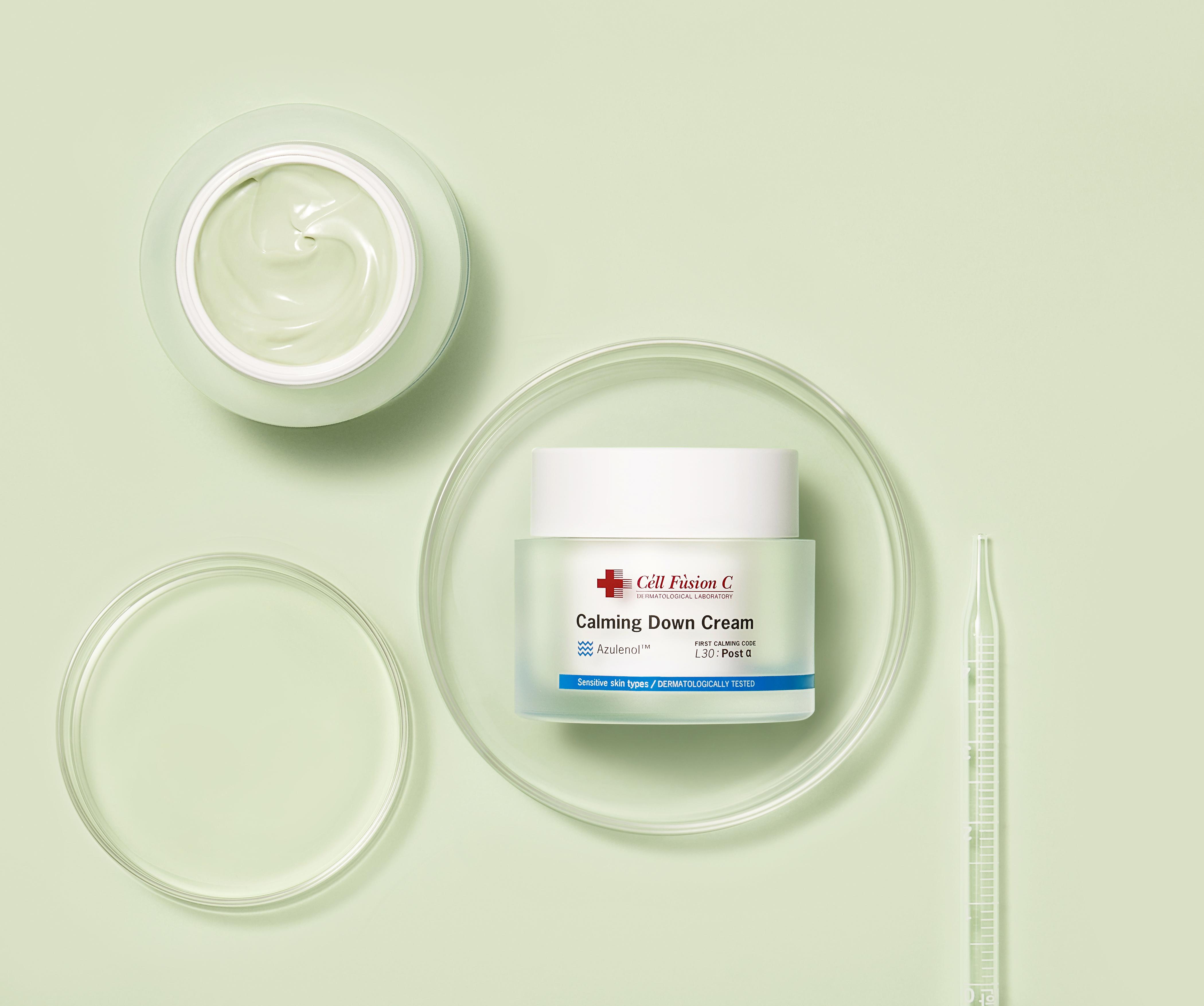 Zielone ukojenie dla podrażnionej, zaczerwienionej skóry – Calming Down Cream od Cell Fusion C.